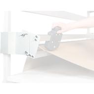 Halterung TPB, f. Schneidvorrichtung Serie TPB, höhenverstellbar, neigbar