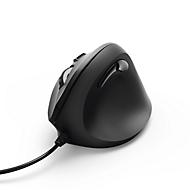 Hama Souris verticale optique EMC-500, ergonomique, filaire, 6 boutons mollette incluse, noir