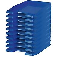 HAN Ablagekorb, DIN C4, Kunststoff, 10 Stück, blau