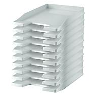 HAN Ablagekorb, DIN C4, Kunststoff, 10 Stück, lichtgrau