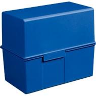 HAN kaartenbakken, A6 liggend, blauw