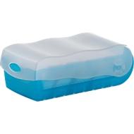 HAN Karteikasten Croco, Kunststoff, DIN A7, mit Deckel, blau-transluzent