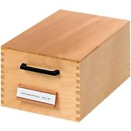 HAN Karteikasten, Holz, DIN A7, 500-900 Karten