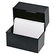 HAN Karteikasten, Kunststoff, DIN A5 quer, offen, schwarz