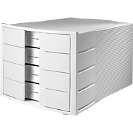 HAN Schubladenbox Impuls, 4 Schübe, Gehäuse lichtgrau/Schublade lichtgrau