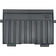 HAN Stützplatte, DIN A6 quer, für Karteitröge, 5 Stück, schwarz