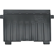 HAN Stützplatte, DIN A7 quer, für Karteitröge, 5 Stück, schwarz