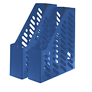 HAN Tijdschriftenhouder, Breedte 76 mm, kunststof, 2 stuks, blauw