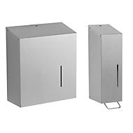 Handdoekdispenser + zeepdispenser SET
