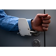 Handfrei-Türöffner Clean4Health, für runde und eckige Griffe mit Ø 16-24 mm, Polyamid, weiß