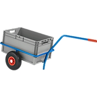 Handkar handwagen van stalen buizen, met kunststof coating, krasbestendig, draagvermogen 200 kg