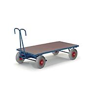 Handpritschenwagen, ohne Bordwände, 1000 x 700 mm, Luftreifen
