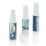 Handreinigungsspray Basic - antibakteriell, Weiß, Auswahl Werbeanbringung erforderlich