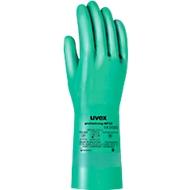 Handschoen met bescherming tegen chemicaliën uvex profastrong NF33, 12 paar, maat 9