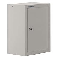 Hangkast MS 420, B 420 x D 320 x H 600 mm, aluminium zilver, romp aluminium zilver