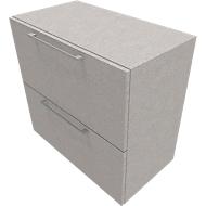 Hangmappenkast SOLUS PLAY, 2 ordnerhoogten, B 800 x D 440 x H 748 mm ceramic grey