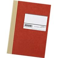 Hartdeckel-Broschüren/Geschäftsbuch, A5, kariert, rot