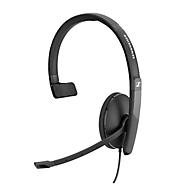 Headset Sennheiser SC 130 USB-C, monogeluid, buigzame arm, In-Line Call Control