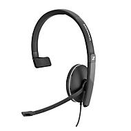 Headset Sennheiser SC 135, monogeluid, met klinkstekker, buigzame arm, voor smartphone/tablet