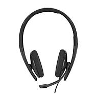 Headset Sennheiser SC 160 USB-C, stereogeluid, grote oorkussens, In-Line Call Control