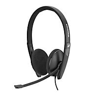 Headset Sennheiser SC 160 USB, stereogeluid, grote oorkussens, In-Line Call Control