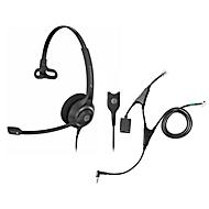 Headset Sennheiser SC 230, kabelaansluiting/monogeluid, met telefoonadapter CEHS-AL01, koptelefoon verstelb.