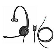 Headset Sennheiser SC 230, kabelaansluiting/monogeluid, met telefoonadapter CEHS-DHSG, koptelefoon verstelb.
