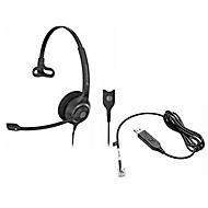 Headset Sennheiser SC 230, kabelaansluiting, monogeluid, verstelb. koptelefoon en telefoonadap