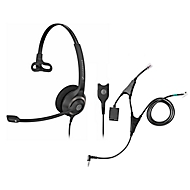 Headset Sennheiser SC 230, kabelgebunden/monaural, mit Telefonadapter CEHS-AL01, Kopfbügel verstellb.