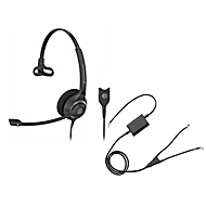 Headset Sennheiser SC 230, kabelgebunden/monaural, mit Telefonadapter CEHS-AV04, Kopfbügel verstellb.