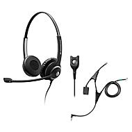 Headset Sennheiser SC 260, kabelaansluiting/monogeluid, met telefoonadapter CEHS-AL01, koptelefoon verstelb.