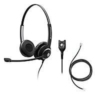Headset Sennheiser SC 260, kabelaansluiting, stereogeluid, koptelefoon verstelbaar en telefoonadapter CEHS-DHSG