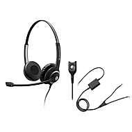 Headset Sennheiser SC 260, kabelgebunden, binaural, Kopfbügel verstellbar, +Telefonadapter CEHS-AV04