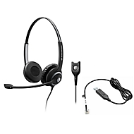 Headset Sennheiser SC 260, kabelgebunden, binaural, Kopfbügel verstellbar, Telefonadapter CEHS-CI02