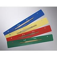 Hechtstroken, PP, diverse kleuren, A4, metalen afdekstrip