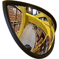 Heftruckspiegel, voor binnen- en buitengebruik, B 270 x H 135 x D 75 mm