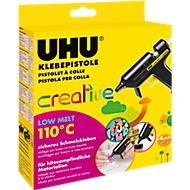 Heißklebepistole UHU Creative LOW MELT 110°C, inkl. 4 Klebepatronen, 10 W