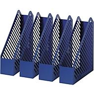 HELIT Stehsammler, Breite 75 mm, Polystyrol, blau, 4 Stück