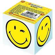 Herlitz blocnote Smiley, notitieblaadjes wit, motief gedrukt aan de zijkant, 700 vellen