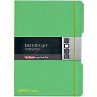 Herlitz Notizbuch my.book, Format DIN A4, Kunststoff, 2 x 40 Blätter kariert/liniert, grün