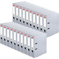 herlitz Ordner maX.file protect, DIN A4, Rückenbreite 80 mm, 20 Stück, grau
