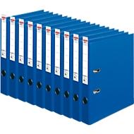 HERLITZ ordner maX.file protect plus, A4, 50 mm, karton PP, 10 stuks, blauw