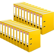 HERLITZ ordners max.file protect, A4, 80 mm, karton PP, 20 stuks, geel