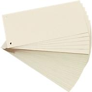 herlitz® scheidingsstroken, B 105 x D 242 x H 22 mm, gerecycleerd karton, 2-voudige perforatie, chamoisgeel, 100 stuks