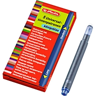 herlitz Universal-Tintenpatrone, 10 Stück, blau