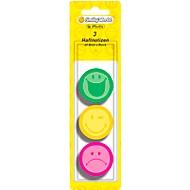 Herlitz zelfklevende notitieblaadjes Smiley, rond, 3 verschillende motieven, 3 x 40 vellen