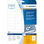 Herma ablösbare Etiketten Nr. 4346 auf DIN A4-Blättern, 1200 Etiketten, 25 Bogen