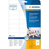 Herma ablösbare Etiketten Nr. 4347 auf DIN A4-Blättern, 675 Etiketten, 25 Bogen