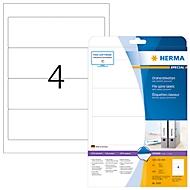 Herma ordneretiketten A4, 192 x 61 mm, permanent hechtend/bedrukbaar, 100 stuks, wit