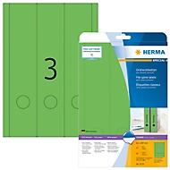 Herma Ordneretiketten A4, 297 x 61 mm, permanent haftend/bedruckbar, 60 Stück, grün
